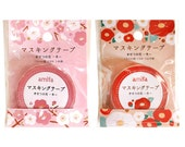 Winter Flowers Washi Tape Set (2 rolls) Amifa Masking Tape Winter Flowers Camellia Flower & Plum Flower Sakura (34233)