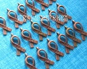Hope Charms,Copper Hope Charms,Antique Copper Charms,Inspirational Charms, Small Hope Charms, Breast Cancer Charms, Jewelry Findings