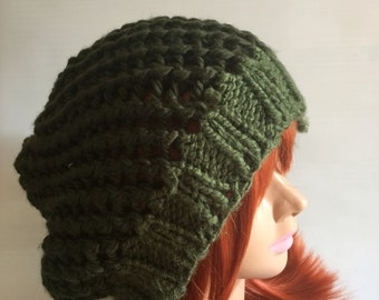 Forest Green Slouchy Beanie