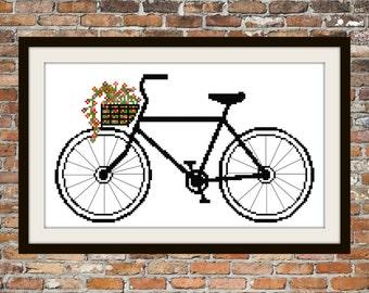 I Like My Bike -  Counted Cross Stitch Pattern