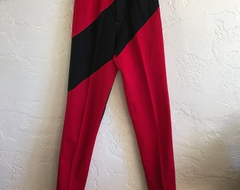 Vintage Rough Rider 80s High Waisted Cowgirl Jeans Black Red Sz 5