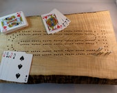 Rustic Curly Maple Cribbage Board with Live Edge K5