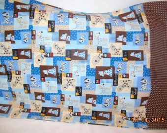Puppy Dogs and Polka Dots Pillowcase