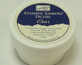 Stampin Up Stampin Emboss Detail Powder Clear  1/2 Ounce