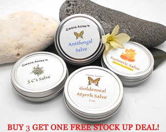 Buy 3 Get 1 Free! - 4 oz. Herbal Salve Stock Up Deal - Skin Rash, Dry Skin, Skin Problems, Herbal Salve, Skin Salve, Healing, Ointment