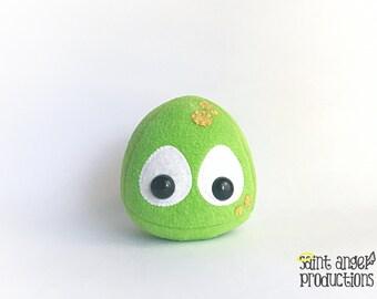 Green Slime Ball Plush, Stuffed Slimer Monster Plushie, READY to SHIP