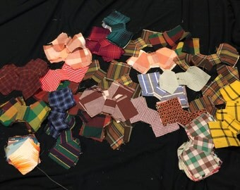 Huge Set of 120 Vintage Bow Tie Quilt Blocks Plus Some Extra Pieces that Have Not Been Sewn Together