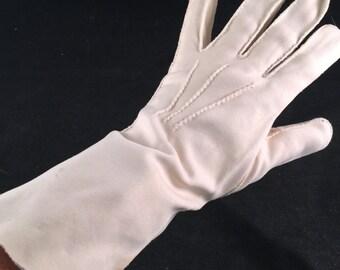 Pair of Vintage Ladies' Ivory Ladies' Long Nylon Gloves