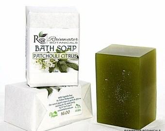Patchouli Citrus Bath Soap Vegan Palm Free