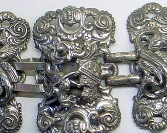 Vintage Napier Dragon Bracelet - Free US Shipping - Gryphon - Griffon - Coat Of Arms - Book Piece - Wide - Heavy - 6-6.5+ Inch Wrist sale