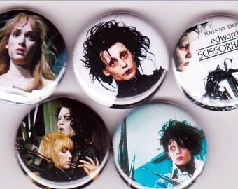 5 Edward Scissorhands Pinback Buttons