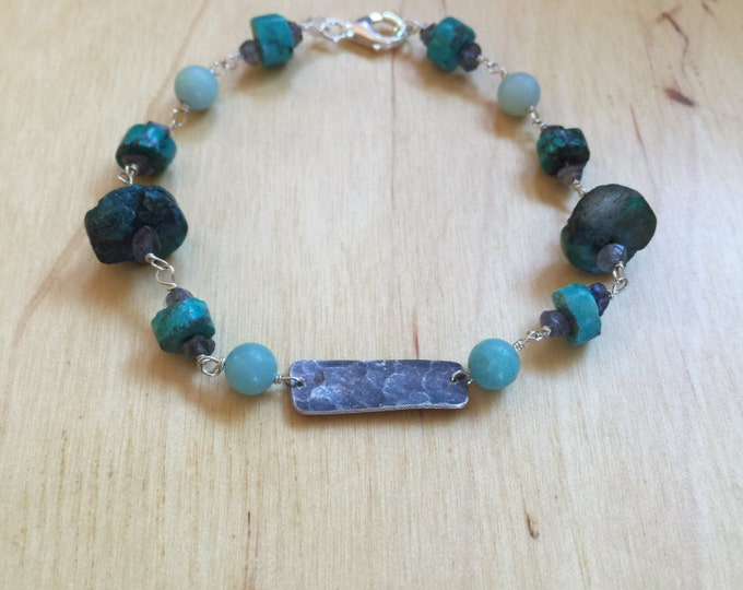 Insouciant Studios Waterside Bracelet Natural Turquoise and Amazonite