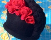 Viva la Frida Felt Hat with Roses and Braids