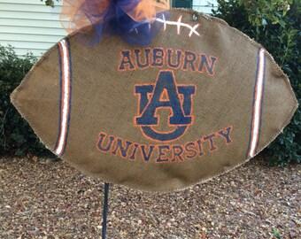 Auburn University Burlap Team Spirit Football Wreath!!!!!!!!!