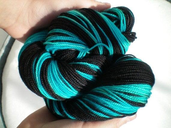 Azure Nights - Dyed to Order - Hand Dyed - Merino Wool Yarn - Fingering Weight