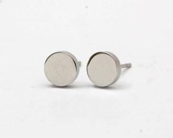 Round Stainless Steel Earring Post Finding (EE411)
