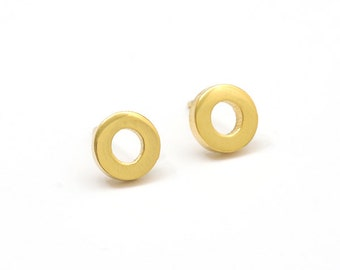Circle Stainless Steel Golden Earring Post Finding (EE159)