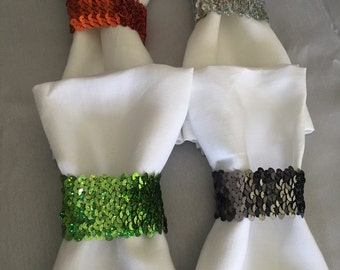 Emerald, Royal, or White Cloth Napkins - Other colors available