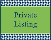 Private listing for Gina Gill