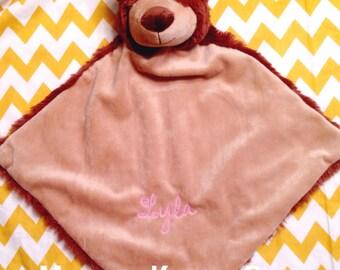 Monogrammed Lovie - you pick animal - baby gift