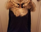 Taxidermy Fashion- Handmade Coyote fur wrap with paw and tail accents