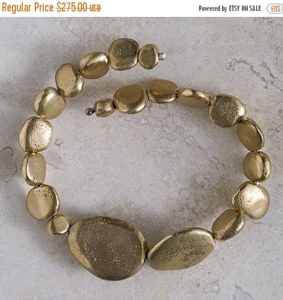 Valentines Day Sale Bronze River Rock Bracelet