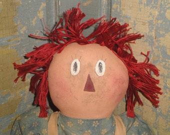 Raggedy Ann | Cloth Raggedy Ann | Primitive Raggedy Ann | Old Fashioned Raggedy Annie
