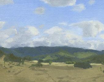 Original Oil Painting, Plein Air, Ranch Valley, Roseburg, Oregon