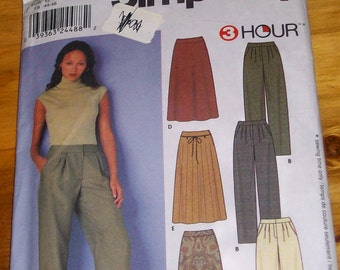 Simplicity 9479 plus size pants and skirts sewing pattern