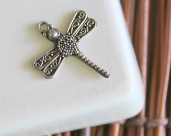 Dragonfly Charm - Sterling Silver (1)