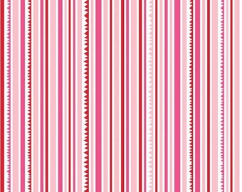 50% OFF Sunny Happy Skies Pink Stripe - 1/2 Yard