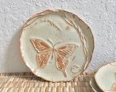 Ceramic Butterfly Dish - Handmade Trinket Dish