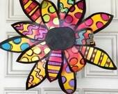 Metal Flower Door Hanger, Spring Door Decor, Summer Door Decor, Flower Wreath