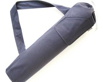 Yoga Mat Bag. Gift for Yogi. Charcoal Gray Yoga Bag for Men or Women. Yoga Mat Carrier. Yoga Mat Cover. Gift Ideas Under 50. Mens Yoga Bag