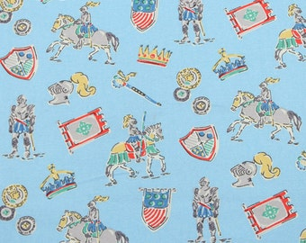 4232 - Knight (Light Blue) Cotton Canvas Fabric - 57 Inch (Width) x 1/2 Yard (Length)