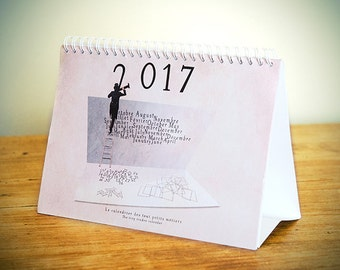 2017 Calendar, Calendar 2017, Fun calendar, photography, Desk Calendar, original calendar, French Wall Decor, French Calendar, New Year