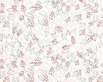 Cloud 9 Organic Kindred Blomma Pink - Cotton Quilting Fabric  - fat 1/4 remnant