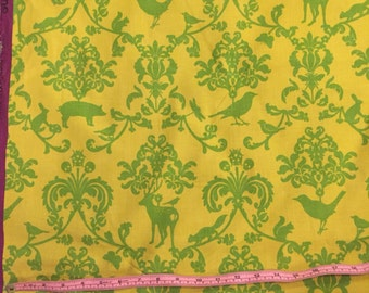 ECHINO fabric by etsuko furuya for Kokka.  Classic Animals print in green.