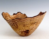 Small Rustic Natural Edge Oak Burl Wood Turned Bowl- Wood Turning Art - Wooden Bowl - House Warming Bowl