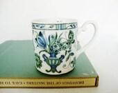 vintage porcelain mug floral amphora butterfly traditional style