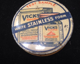 Old Vicks advertising tin