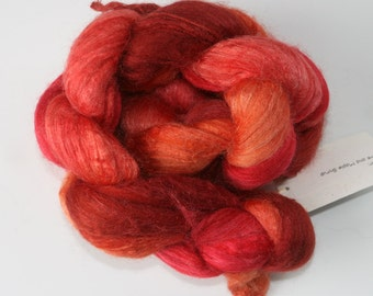 Polwarth Tussah Silk Spinning Fiber - 'Love and Maple Syrup'