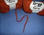 Rusty Orange Ribbon Twin Yarn by Ice Yarns - 2 skeins of bulky novelty yarn