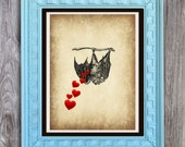 SALE Mama Bat Love Print Includes 5 backgrounds Instant Digital Download DIY Print yourself