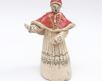 Pope Leo X ceramic miniature historic figurine