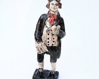 Beethoven Ceramic Miniature Figure for musical genius types