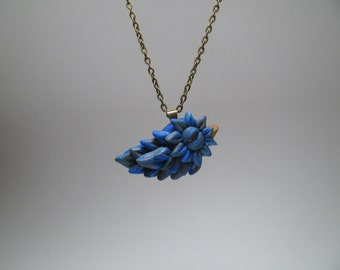 Small Bluebird Necklace - Polymer Clay Jewelry - Nature Inspired