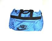 90s vintage NIKE duffel bag 1990s old skool blue nike gym bag
