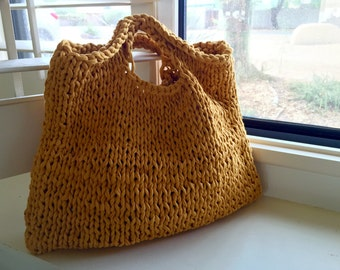 Modern BoHo Knitted Tote in Sunny Day