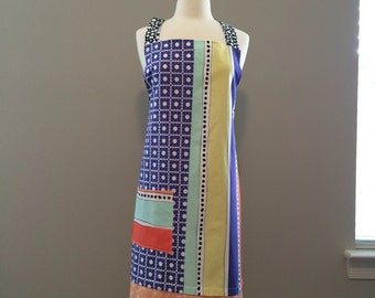 Long cross back apron